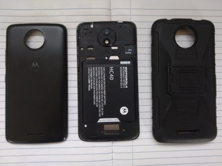 Teléfono Motorola Moto C Con Forro Vidrio Templado Impecable