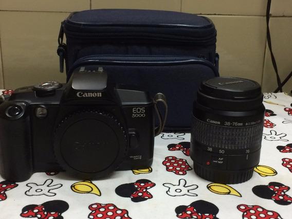 Máq. Foto, Canon Eos 5000 / Lens Zoom Ef38-76mm - Analógica