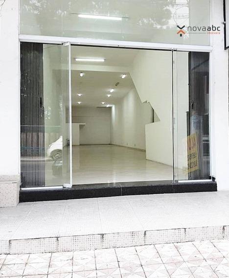 Salão Para Alugar, 150 M² Por R$ 4.800/mês - Vila Curuçá - Santo André/sp - Sl0063