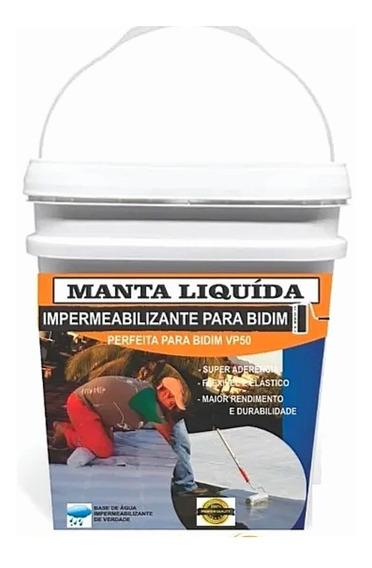 Manta Líquida Bidim Impermeabilizante 18kg Vp50 Telhado Laje