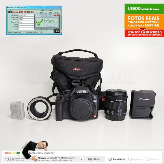 Canon T1i 15000 Cliques + Lente Stm + Tubo Macro + Bolsa |2a