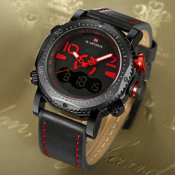 Relógio Masculino Militar Esporte Digital Naviforce