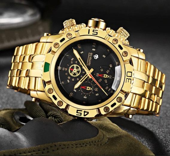 Relógio Masculino Temeite Super Luxo 3d Original