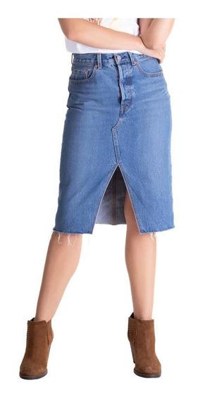 Saia Jeans Levis Deconstructed Midi - 10001