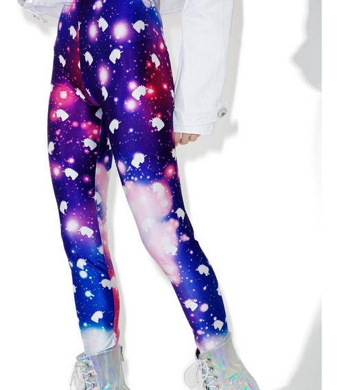 Smoko Leggings De Unicornio Galaxy Unitalla Original Uni