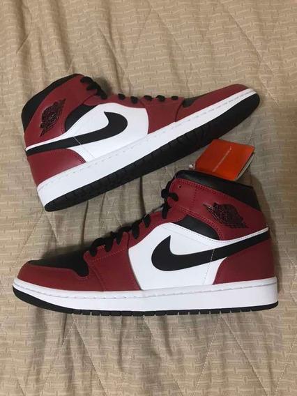Tênis Nike Air Jordan 1 One Mid Gym Red Chicago Black Toe 41