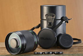 Lente Kalimar Reflex Yashica 500mm F8 T-mount C/ Filtros