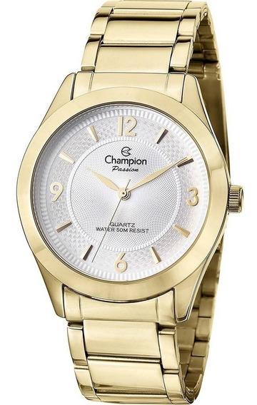 Relogio Champion Original, Novo, Feminino Dourado Cn 27876h