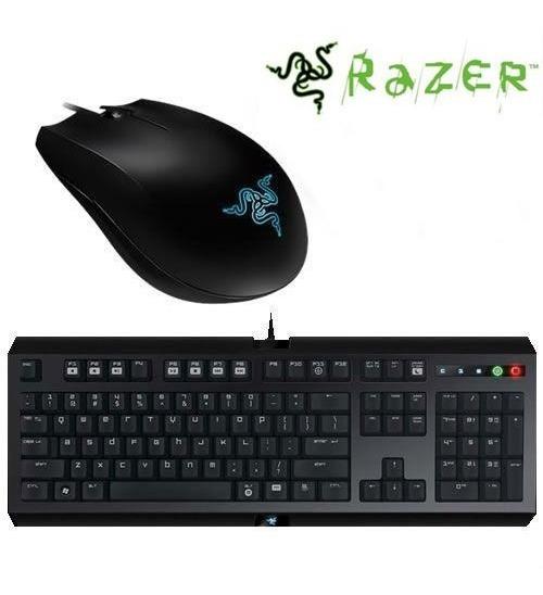 Kit Razer Teclado E Mouse Gamer Cyclosa Abyssus 12x + Nota
