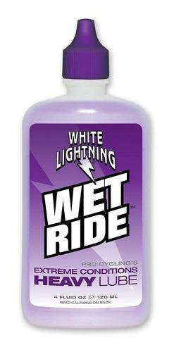 Imagen 1 de 4 de Aceite Para Bicicleta White Ligthning Wet Ride 60ml