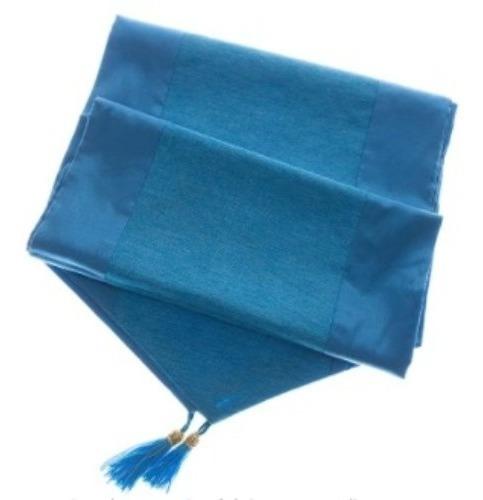Avarada Elegante Camino De Mesa Azul Turquesa Agua Para El H