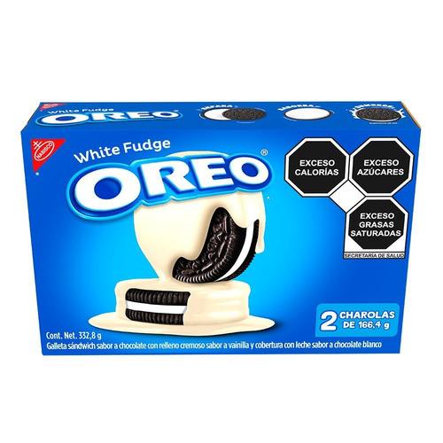 Imagen 1 de 1 de Galleta OREO White Fudge de chocolate y vainilla 332.8g pack x 2u