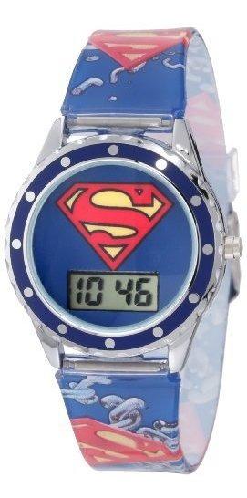 Superman Kids Sup4021 Impreso Superman Logo Reloj Analógico