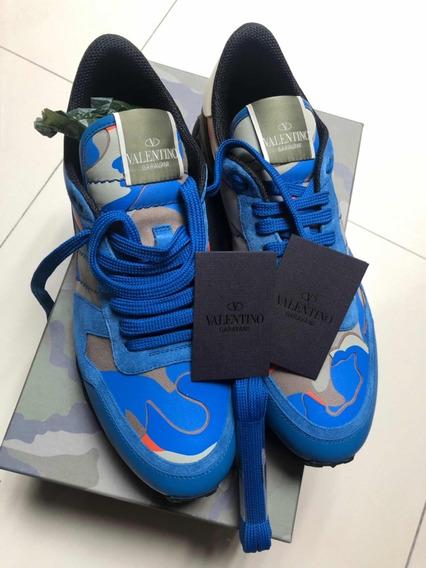 Sneakers Tenis Valentino Italianos 8 Mex Caja Nuevos