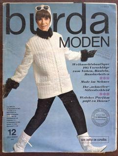 Revista Burda Moden Diciembre 1965 Con Moldes