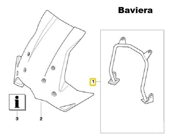 Suporte De Para Brisas Moto Bmw F650 Gs / F800 Gs