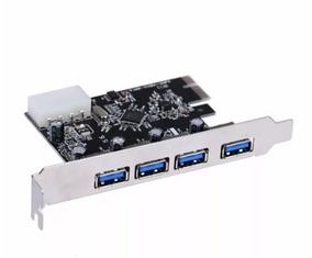 Placa Pci Express Usb 3.0 Ate 5gbps 4 Portas Nova R$99