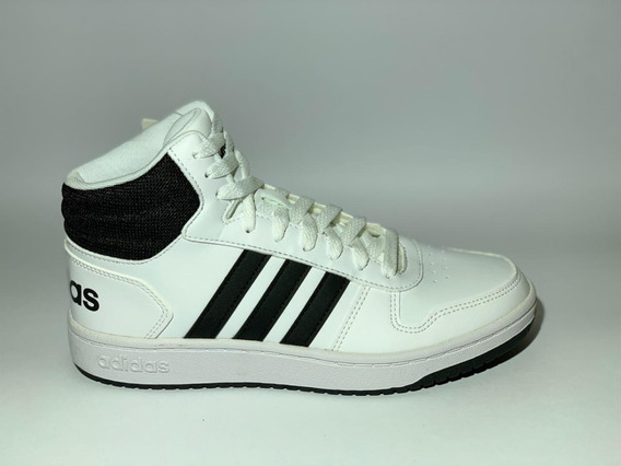 Tênis adidas Hoops Cano Alto Masculino - Branco