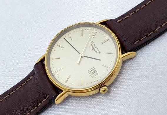 Relógio Masculino Longines Swiss Made Folheado A Ouro