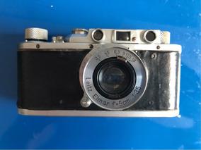 Câmera Leica Antiga Revisada - Funcionando,com Capa De Couro
