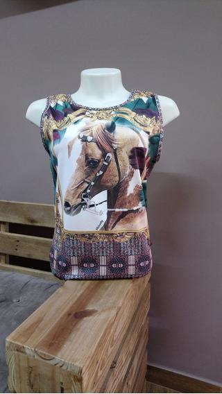 Body Regata Country Horses Cavalo Minuty Blusa Blusa