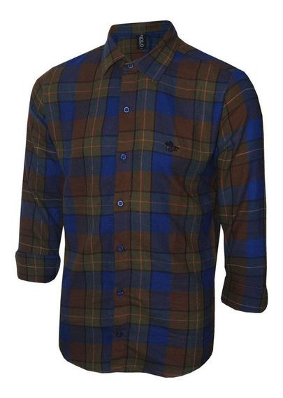 Camisa Masculina Polo Rg518 Flanelada Original Polo Rg518