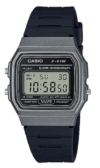 Relógio Casio Unissex Vintage F91wm 1bdf Grafite Digital