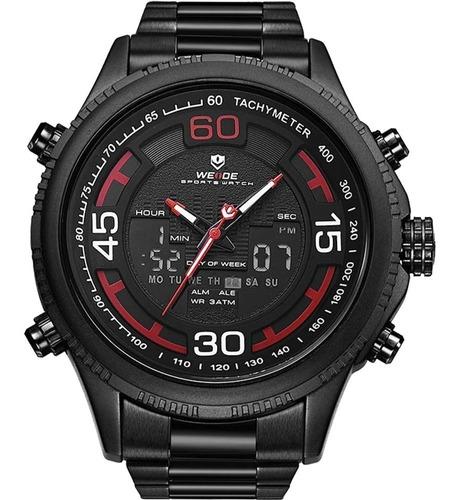 Relógio Masculino Weide Anadigi Preto Wh6306b-2c