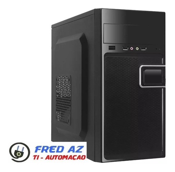 Computador Cpu Pc Core 2 Duo Hd 500 4gb Ram Gabinete Novo
