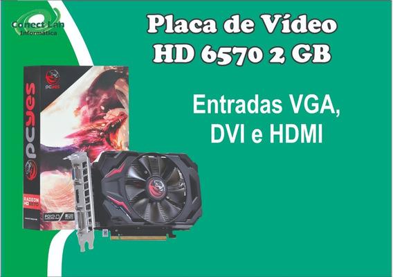 Placa De Vídeo Pc Gamer Básico Pcyes Amd Hd 6570 2 Gb Ddr3