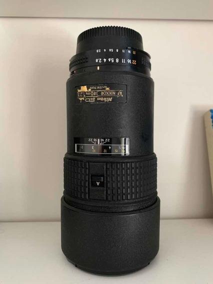 Nikkor 180mm 2.8 Ed Af *bokeh Incrível* Desc.p/pag. À Vista