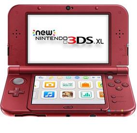 New Nintendo 3ds Xl Vermelho + Carregador Dock + Fonte