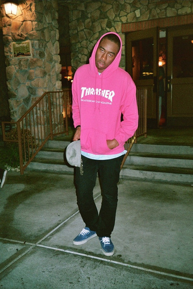 Blusa Moletom Thrasher Skateboard Rosa Canguru Moda Unissex