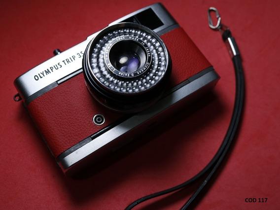 Câmera Analógica ( Revisada ) Olympus Trip 35 - Vermelha