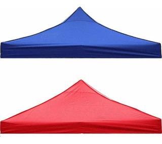 Lona Carpa 2x2 Solo Color Azul Y Rojo