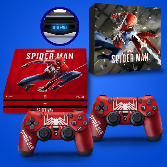 Skin Adesivo Playstation 4 Pro Spider-man Homem-aranha