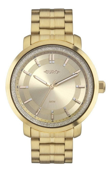 Relógio Euro Shine Feminino Dourado Eu2036yoy/4d
