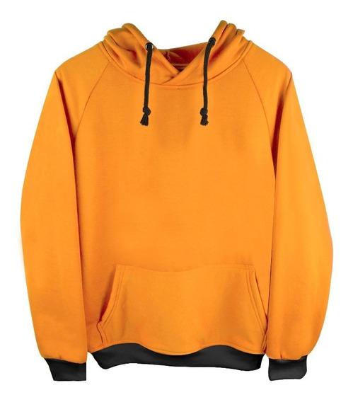 Sudadera Con Gorro Amarillo Yellow Moda Frío Envio Gratis