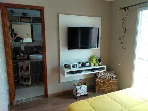Apartamento Em Vila Bocaina, Mauá/sp De 90m² 2 Quartos À Venda Por R$ 380.000,00 - Ap682468