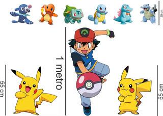 9 Kit Display De Chão Pokemon Totem C 1 Metro 9 Peças