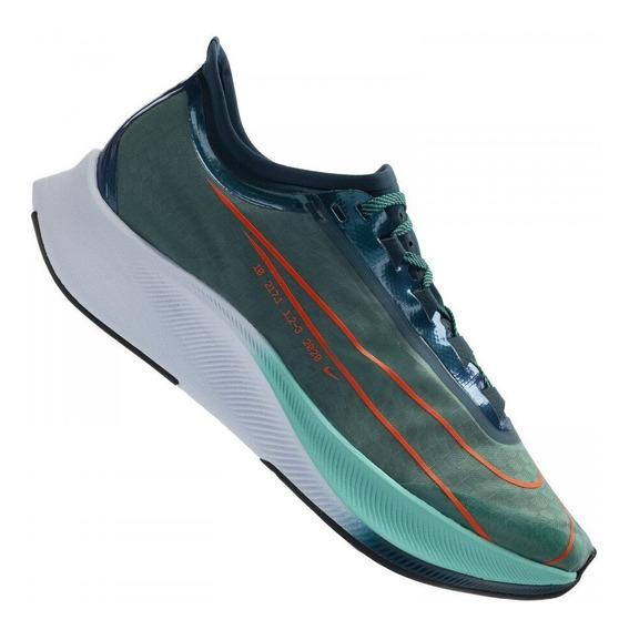 Tênis Nike Zoom Fly 3 Prm Hakone Masc. Verde Corrida