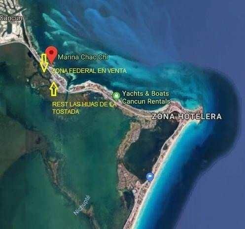 Zona Federal Laguna Nichupte En Cancun Zona Hotelera 1770m2