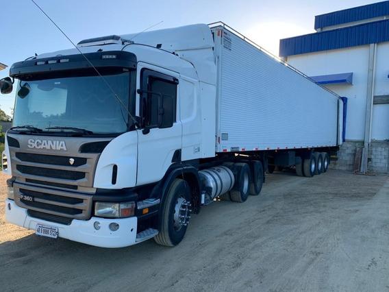 Scania P 360 6x2 2012 E Carreta Frigorífico Randon 2000