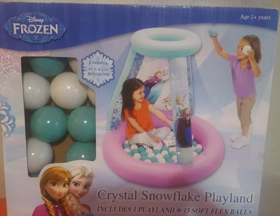 Inflable Pelotas Frozen Disney Crystal Snowflake Playland