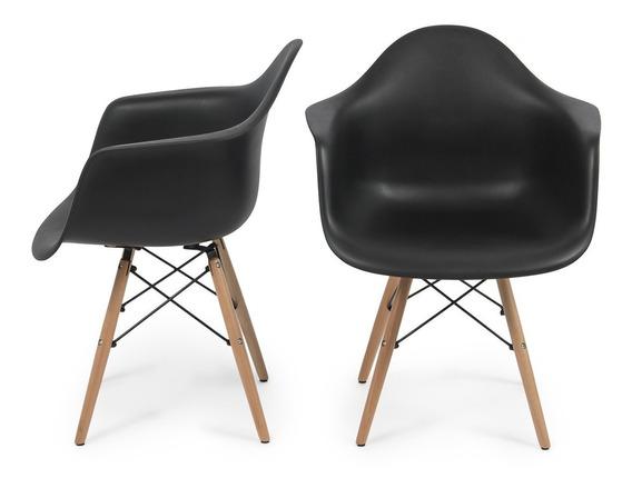Cadeira Charles Eames Wood Com Braços
