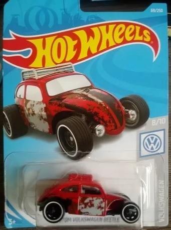 Miniatura Hot Wheels Custom Volkswagen Beetle - Vermelho !!!