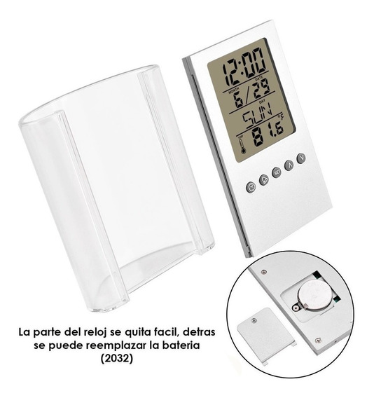 Pack 5 Reloj Despertador Lapicero Acrílico Alarma Pantalla