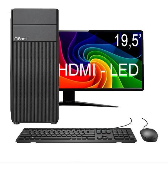 Computador Fácil Desktop Completo Amd Phenom 4gb Hd 500 Gb