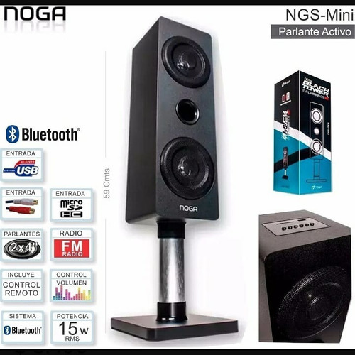 Parlante Bluetooth Torre Led Ngs-mini Noga 15w - San Justo