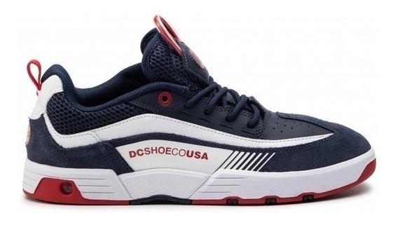 Tênis Dc Shoes Legacy Slim 98 - Navy Red Melhor Oferta Nf